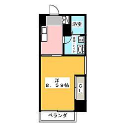グランデ浅間町[5階]の間取り