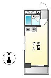 愛知県名古屋市瑞穂区彌富通2丁目の賃貸アパートの間取り