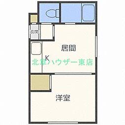 北海道札幌市東区北二十七条東18丁目の賃貸マンションの間取り