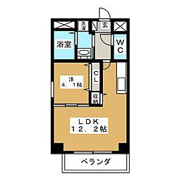 GRANDUKE新栄[5階]の間取り