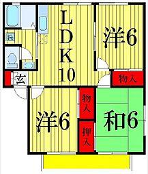 東京都足立区青井3丁目の賃貸アパートの間取り