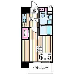 レジュールアッシュ塚本[5階]の間取り