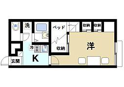 奈良県桜井市大字桜井の賃貸アパートの間取り