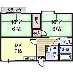 フォーブルK[1階]の間取り