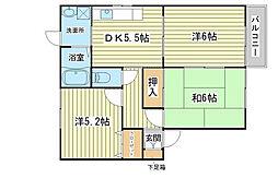 兵庫県赤穂市古浜町の賃貸アパートの間取り