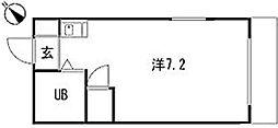 広島県広島市安佐南区祇園6丁目の賃貸マンションの間取り