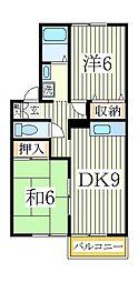ロイヤルハイツA[1階]の間取り