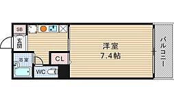 ジャストジャパンウエスト[4階]の間取り