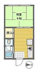 谷六第一マンション[2階]の間取り