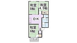 KレジデンスビューII[0203号室]の間取り