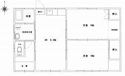 [一戸建] 岡山県岡山市北区東花尻 の賃貸【/】の間取り