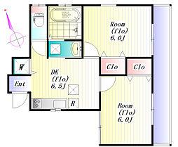 上池袋4丁目 貸住宅[1階]の間取り