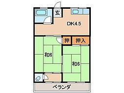 西村マンション[1階]の間取り