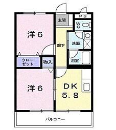 サニーハウス萩原[3階]の間取り