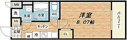 ウエンズ勝山[7階]の間取り