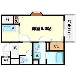 ハイツウエノ2nd[3階]の間取り