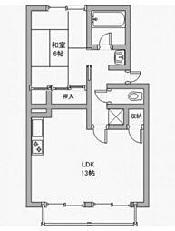 レインボーハイツ今A[2階]の間取り