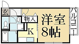 ジュネス畑ヶ田[2階]の間取り