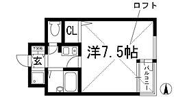 大阪府池田市天神1丁目の賃貸マンションの間取り