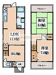 [一戸建] 大阪府堺市東区高松 の賃貸【/】の間取り
