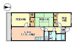 エクセレント今寺[2階]の間取り