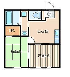 インブルーブH[2階]の間取り