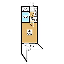 デトム・ワン二条城南[9階]の間取り