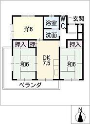 イーストマンション幹[2階]の間取り