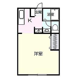 高知県高知市薊野西町1丁目の賃貸アパートの間取り