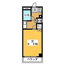 ダイアパレス東島田[8階]の間取り