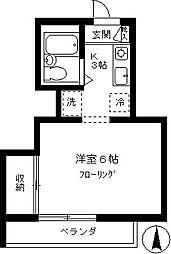 横山方[202号室]の間取り