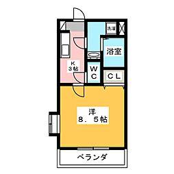 ブルー・シエルII[3階]の間取り