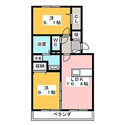セジュール高木[2階]の間取り