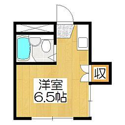 カサローゼ吉田[103号室]の間取り