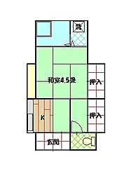 奥山アパートB[101号室]の間取り