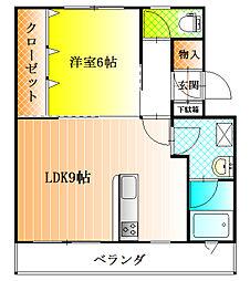 ライトコート[4階]の間取り