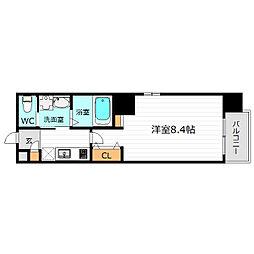 JR大阪環状線 京橋駅 徒歩6分の賃貸マンション 9階1Kの間取り