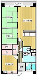 コーシャハイツ中加賀屋[107号室]の間取り