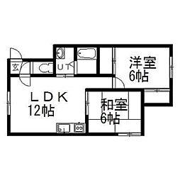 メゾンアイ文京台[2階]の間取り