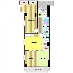 サンシャトーレマンション[2階]の間取り
