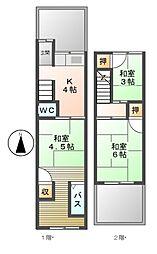 [一戸建] 愛知県名古屋市中川区打出2丁目 の賃貸【/】の間取り
