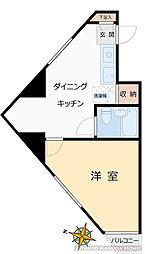 メゾンコモド小石川[304号室]の間取り