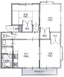 静岡県静岡市駿河区みずほ5丁目の賃貸アパートの間取り