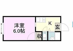 STUDIO MINO[1階]の間取り