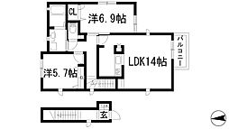 兵庫県伊丹市西野2丁目の賃貸アパートの間取り