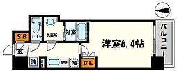 BPRレジデンス新梅田 3階1Kの間取り