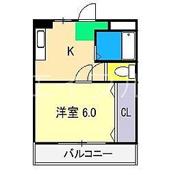 コーポアクセス[5階]の間取り