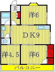 アーバン田中[3階]の間取り