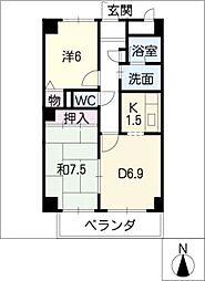 グレース堀田[9階]の間取り