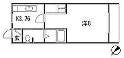 ドリームハウス開成[203号室]の間取り